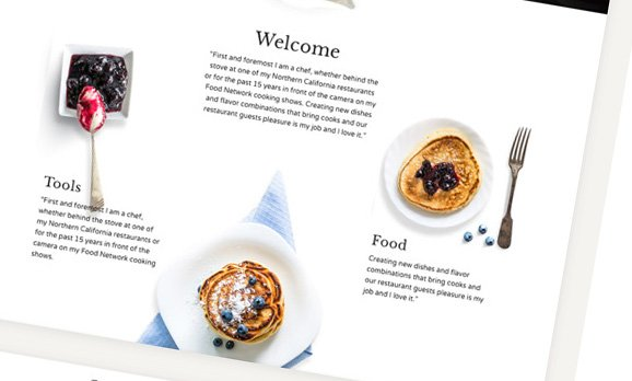 Restaurant Cafe, Cake Shop website design