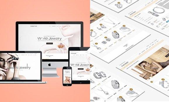 Hong Kong jewelry shop web design