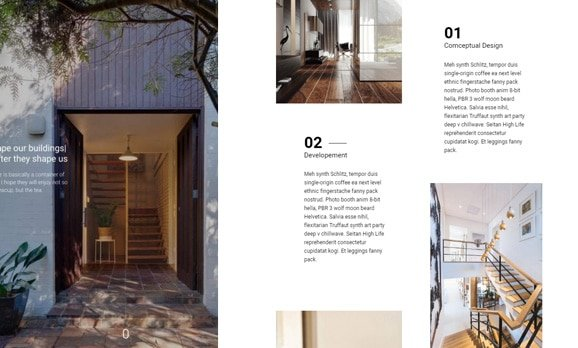 Architecture & interior design website design